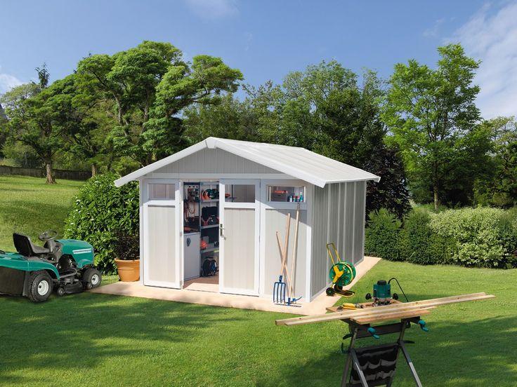 Good Das Grosfillex Garten und Ger tehaus aus PVC ist praktisch und erleichtert die Pflege Im Gegensatz zu H usern aus Holz
