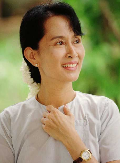 Aung San Suu Kyi.  FAMOUS AS: Political Leader (Freedom Fighter) of Myanmar  BORN ON: 19 June 1945  BORN IN: Yangon (Rangoon), Burma (Myanmar)  NATIONALITY: Myanmar  WORKS & ACHIEVEMENTS: Leader of the National League for Democracy; Nobel Peace Prize Winner (1991)