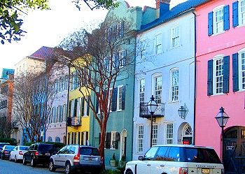 Rainbow Row, Charleston, South Carolina! http://www.gypsynester.com/csc.htm