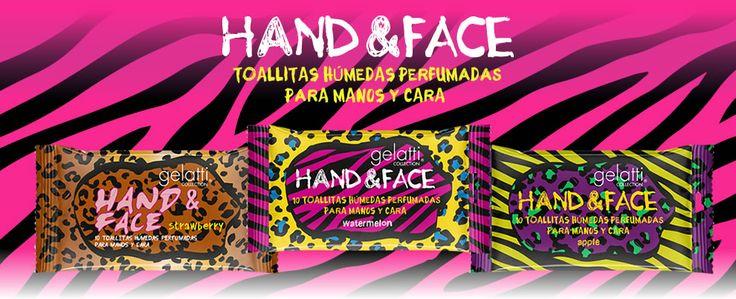 Toallitas húmedas perfumadas para manos y cara