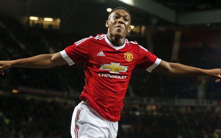 Descargar fondos de pantalla El Manchester United, 4k, Anthony Martial, de la Liga Premier, futbolistas, MU, fútbol