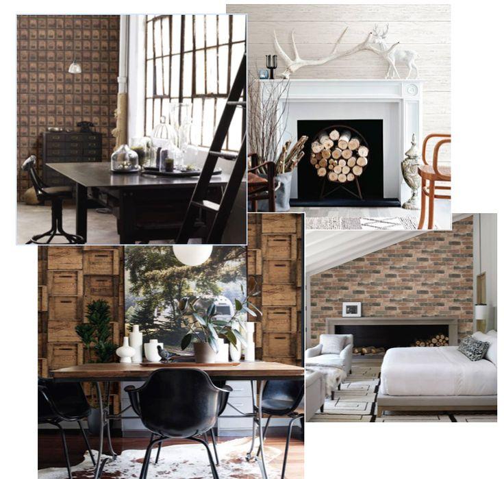 25 beste idee n over behang meubilair op pinterest geschilderd behang geschilderde - Meubilair van binnenkomst grijs ...