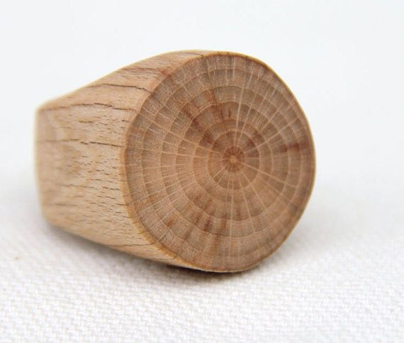 tree branch ring  beech  size 5 1/2 by thewoodlot on Etsy