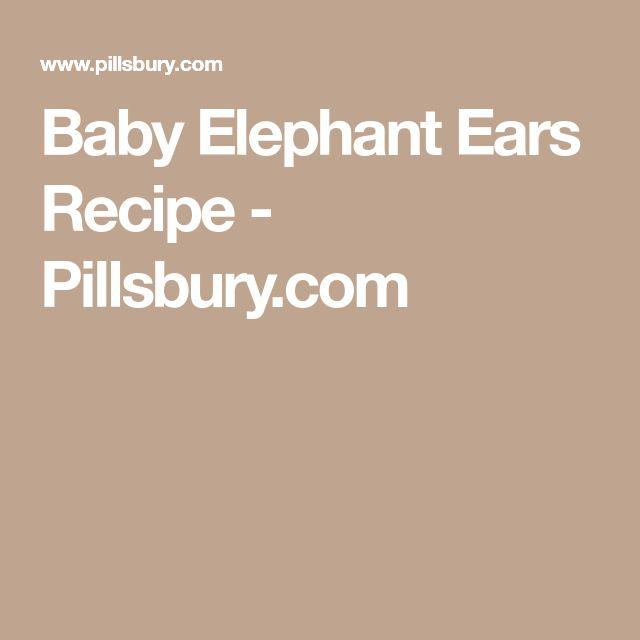 Baby Elephant Ears Recipe - Pillsbury.com