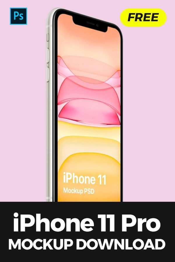 Download A Premium Quality Isometric Iphone 11 Psd Mockup On Clean Background Screen And Background Are Editable W Iphone Mockup Iphone Mockup Psd Mockup Free Download