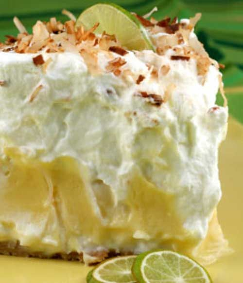 Recipe for Florida Pie - This is essentially a traditional key lime pie lined…