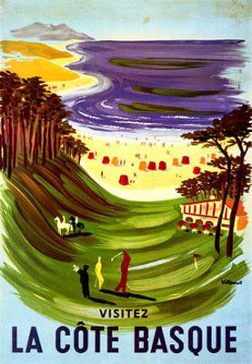 Le Cote Basque Bernard Villemot Fine Art Print Poster