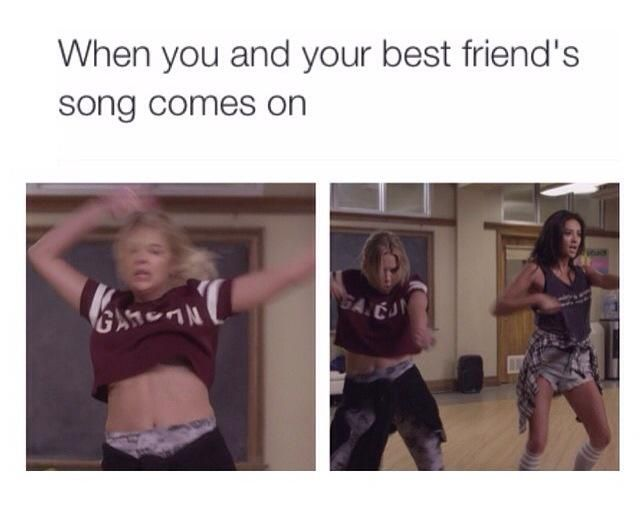 When the #PLL theme song comes on #PrettyLittleLiars