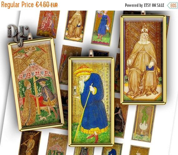 35% OFF SALE Antique Tarot Card 15th-century by DreamUpGraphic
