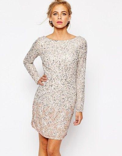white dress sparkly  cequine