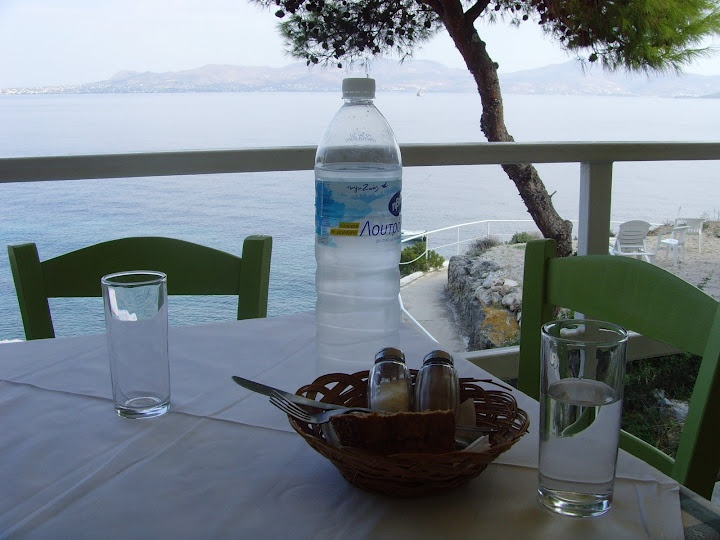 Ouzo is served in Agistri, Greece. Ah, memories!