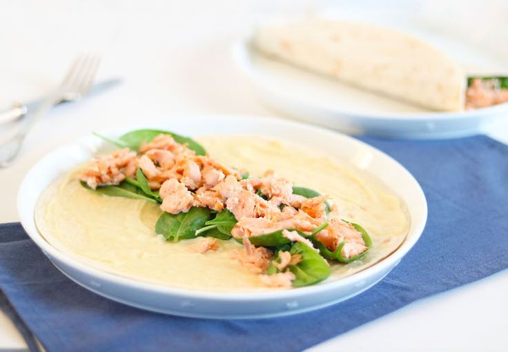 5 OR LESS: Wrap met zalm en wasabimayonaise