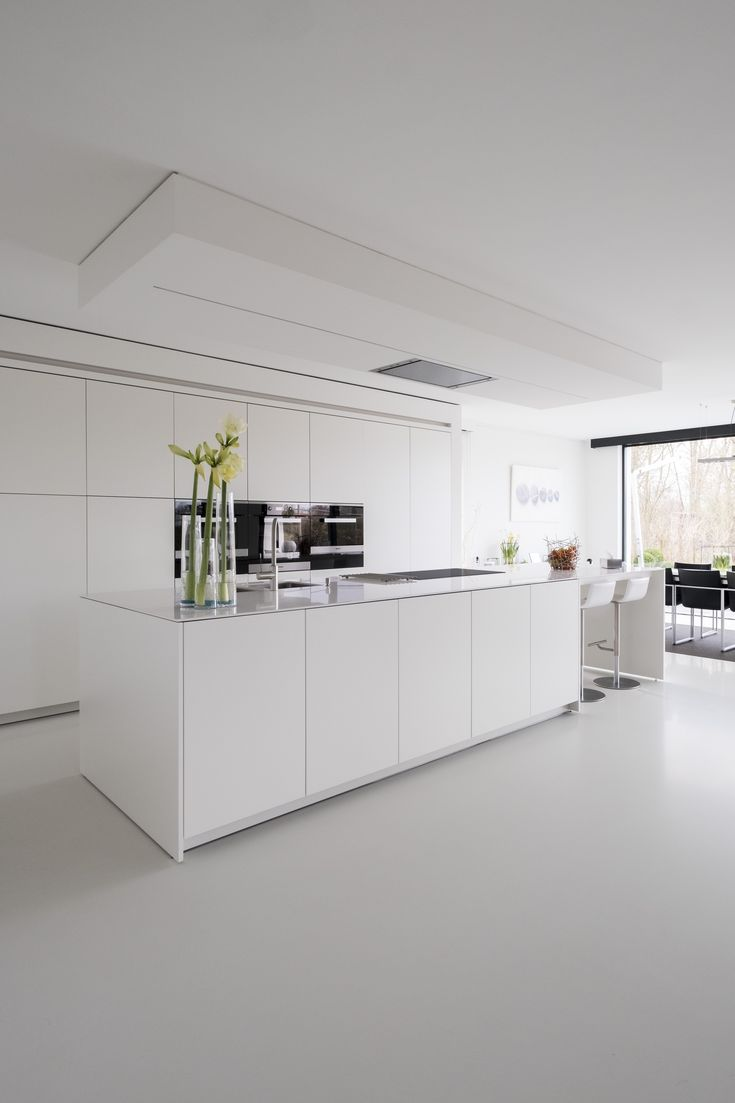 Best Modern All White Kitchen Keuken Ideeën Keuken Plafonds 400 x 300