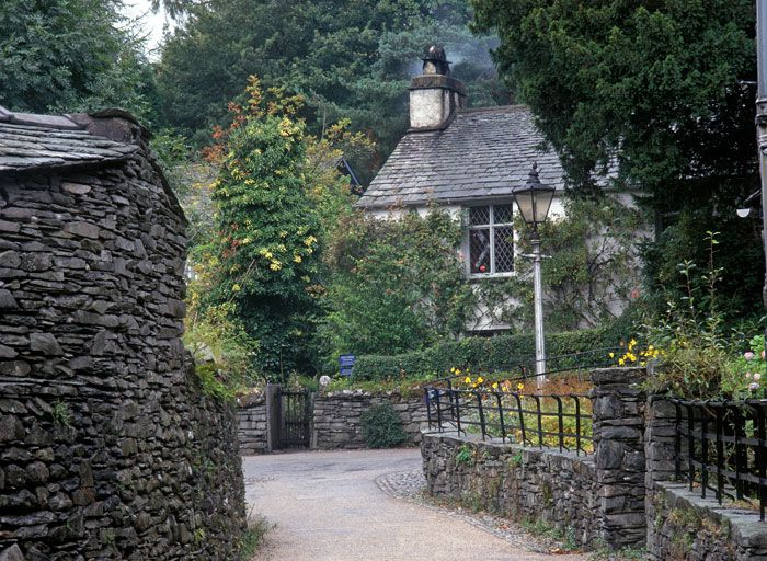 William Wordsworth's Dove Cottage home, Grasmere, Lake District, Cumbria, England, UK