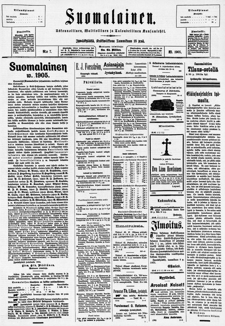 18.01.1905 Suomalainen no 7 - Sanomalehdet - Digitoidut aineistot - Kansalliskirjasto