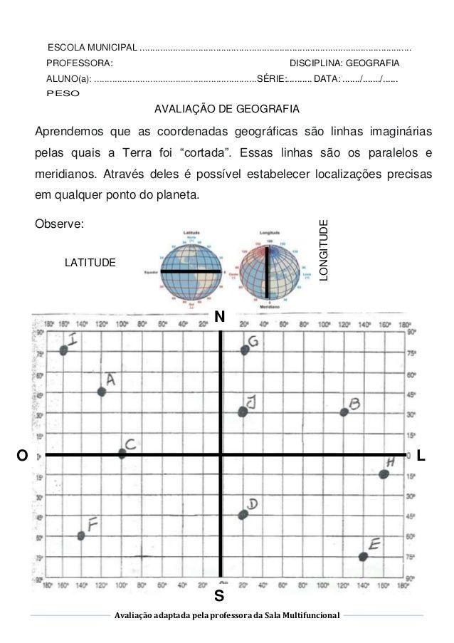 Avaliacao Adaptada Pela Professora Da Sala Multifuncional