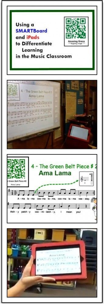 Using a SMARTBoard and iPads to Differentiate learning in the Music Classroom. Recorder Karate in a 1:1 iPad school. WOW!