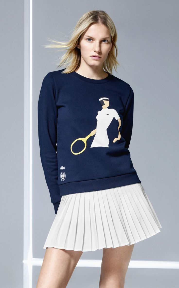 Lacoste Roland Garros #tennis #fashion Spring/Summer 2017 Collection #tennisfashion. See our review of all the great pieces in this collection! #futboloutfitwoman