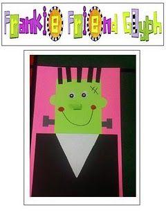 Frankenstein CraftFrankenstein Crafts, Kindergarten October, Deanna Jumping, Halloween Fun, Fall Halloween, Frankenstein Glyphs, Children Book, Halloween Art, Art Projects