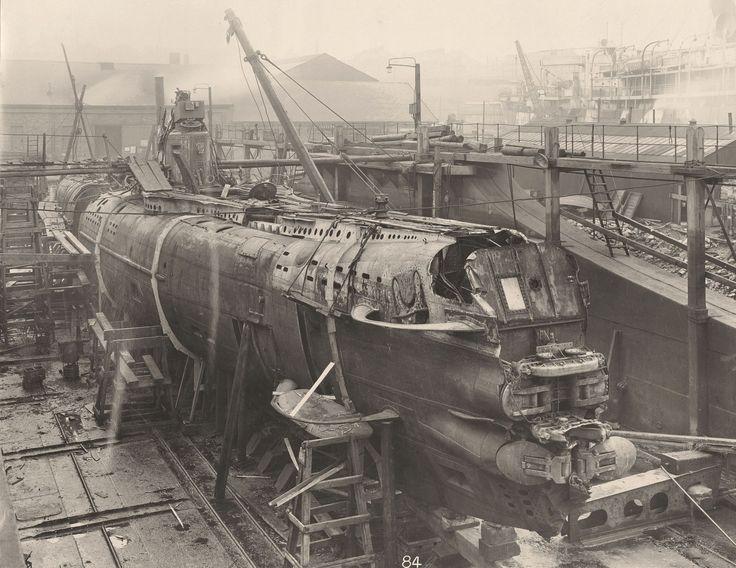 Niemiecki okręt podwodny UB-110 został zbudowany przez Blohm & Voss w Hamburgu i oddany do użytku 23 marca 1918 roku. Pod dowództwem Wernera Furbringera odbył dwa patrole - zdążył zatopić jeden statek oraz jeden poważnie uszkodzić. 19 lipca 1918 roku szczęście odwróciło się od załogi UB-110.