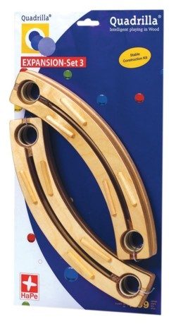 Quadrilla EXPANSION Set 3 (4 short curved rails)