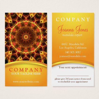 Yellow Crocus mandala appointment card - flowers floral flower design unique style
