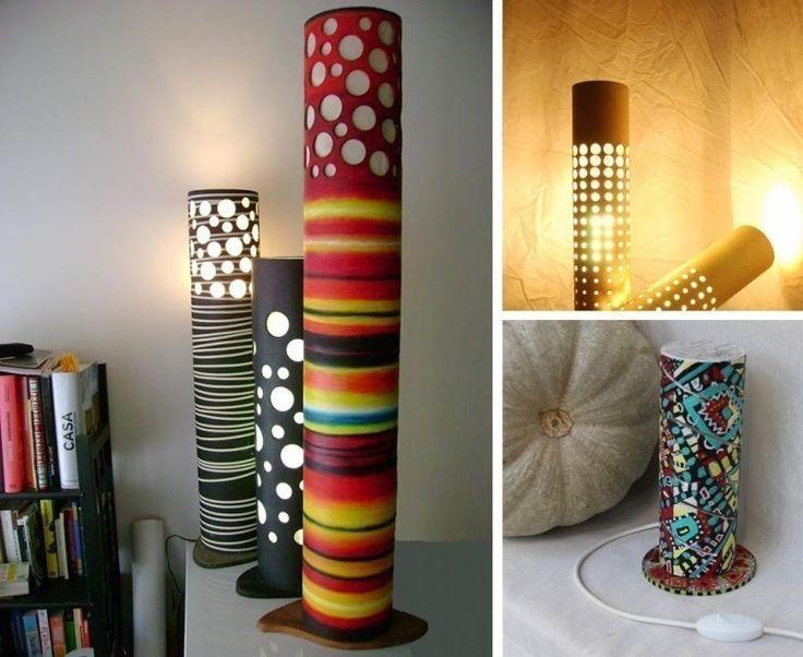 Tubos de cartón - lamparas de cartón