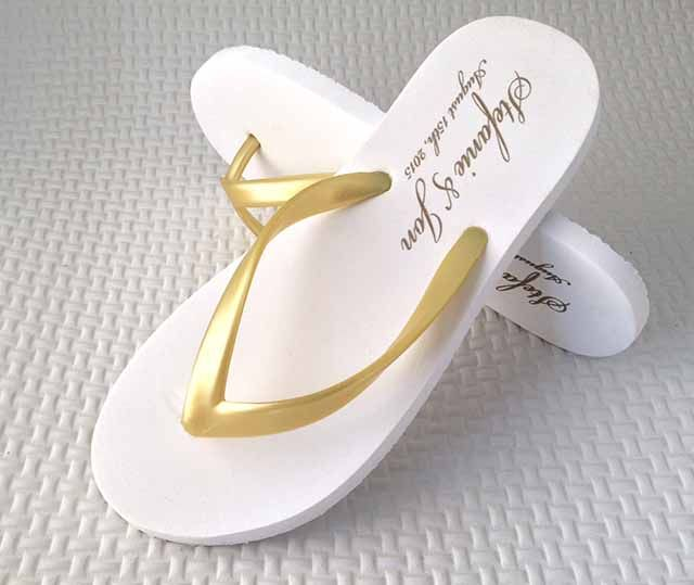 Beach Wedding Flip Flops, custom flip flops, personalized flip flops, Wedding Favors, hand fans