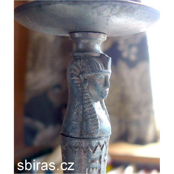 Original historical tin candlestick EGYPT