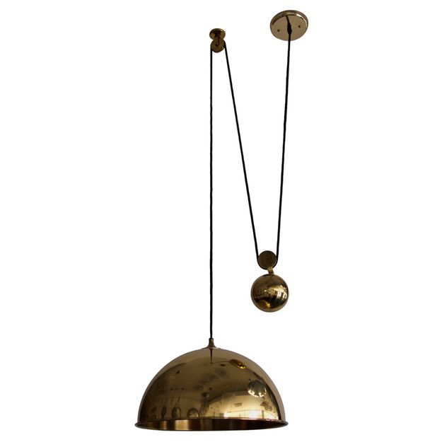 Marvelous Florian Schulz, Counterweight Brass Pendant Lamp, 1960s. Maybe More Good To  Put Far Great Pictures