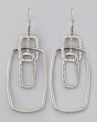 John Hardy Classic Chain Rectangular Drop Earrings 9VgPuY