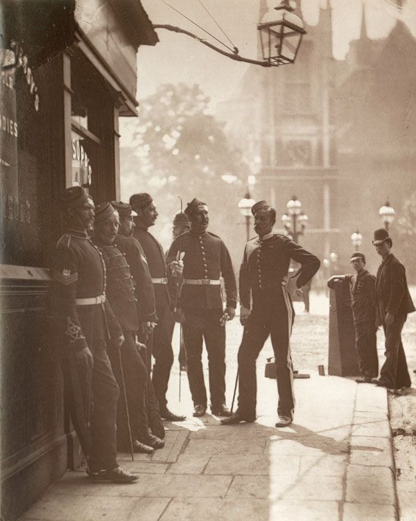 Britain still had an empire to run and in 1876 any young men ardent for some desperate glory would make their way to the Mitre and Dove public house. There the recruiting sergeants of any number of regiments would cajole young aspirants to military honors. The local police officer is second from left!