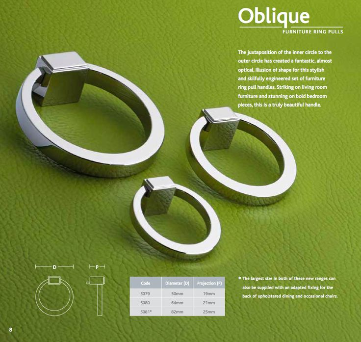 Oblique #furniture Ring Pulls   Striking On Living Room Furniture And  Stunning On Bold Bedroom