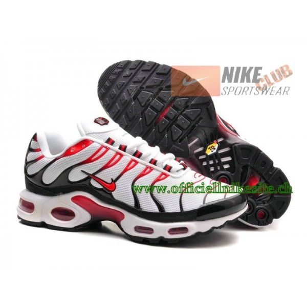 Nike Air Max Plus/Tn Requin 2015 Chaussures de Basketball Pour Homme Blanc/ Rouge
