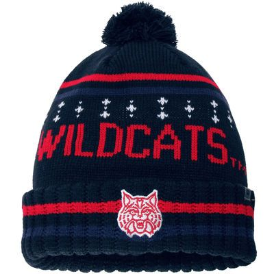Top of the World Arizona Wildcats Navy Barometer Cuffed Knit Hat with Pom