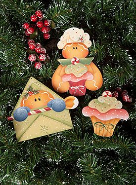 Santa's Treats Ornaments by Renee Mullins - Decorative Painting Patterns from ArtistsClub.com