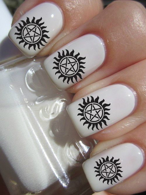 Supernatural Nail Decal  42 Per Purchace by PineGalaxy on Etsy, $4.50