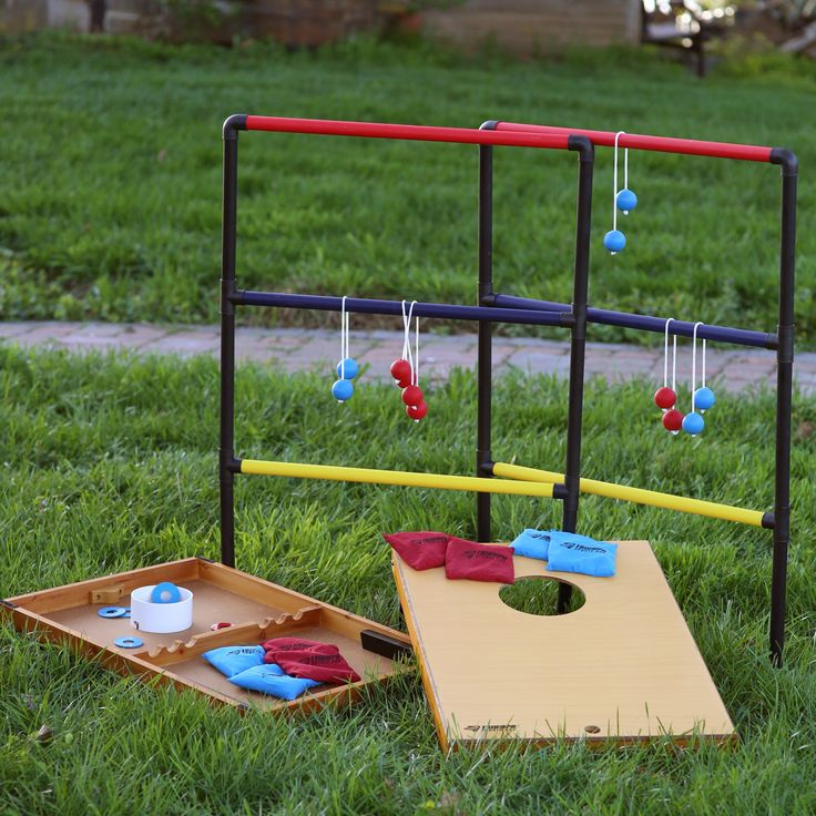 Triumph Sports USA Trio Toss: Ladder Toss, Bag Toss, and Washer Toss - The Triumph Sports Trio Toss Deluxe Game is the trifecta of outdoor games - it combines the three hottest backyard games on the market into one portab...