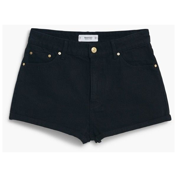 High Waist Shorts ($30) ❤ liked on Polyvore featuring shorts, bottoms, pants, high-waisted jean shorts, high-waisted shorts, black shorts, high waisted zipper shorts and highwaisted shorts