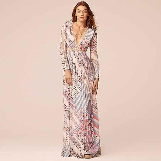 Image for PURE SILK PRINTED MAXI DRESS GIGI HADID from Tommy Hilfiger USA