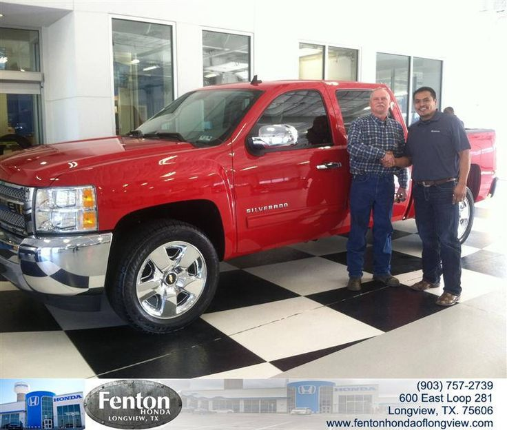Congratulations to Kidron Cummings on your #Chevrolet #Silverado 1500 purchase from Raul Hernandez at Fenton Honda of Longview! #NewCar