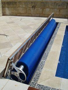Elite Lid Mounted Roller Hideaway System Pool Houses Swimming Pools Backyard Backyard Pool