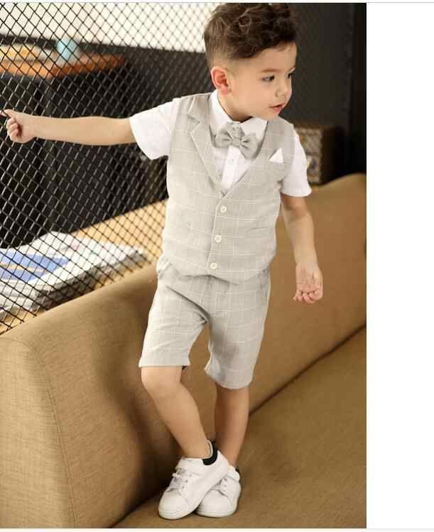 3862832f13590 春物 男の子スーツ キッズフォーマル  子供タキシード半袖 3点セット ...