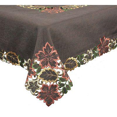 Xia Home Fashions Dainty Leaf Table Cloth