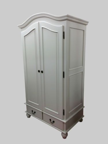 French-Style-Shabby-Chic-Painted-Double-Wardrobe