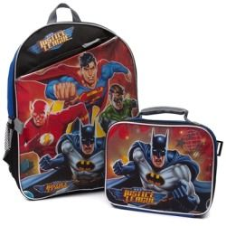 Justice League Backpack with Batman Lunch Box