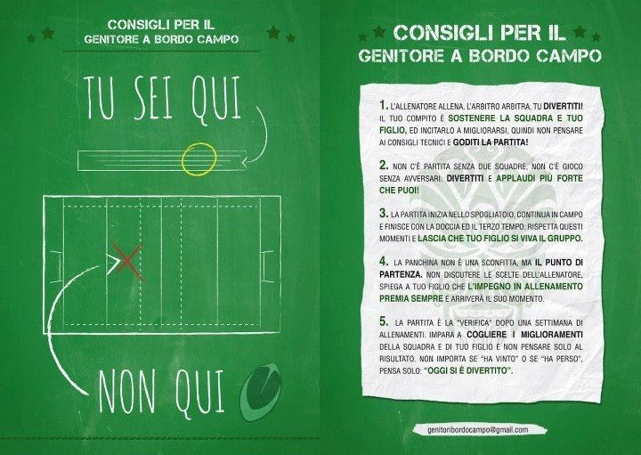 these are suggestions for parents at their kids' match: it says YOU ARE HERE....not here (playing!)