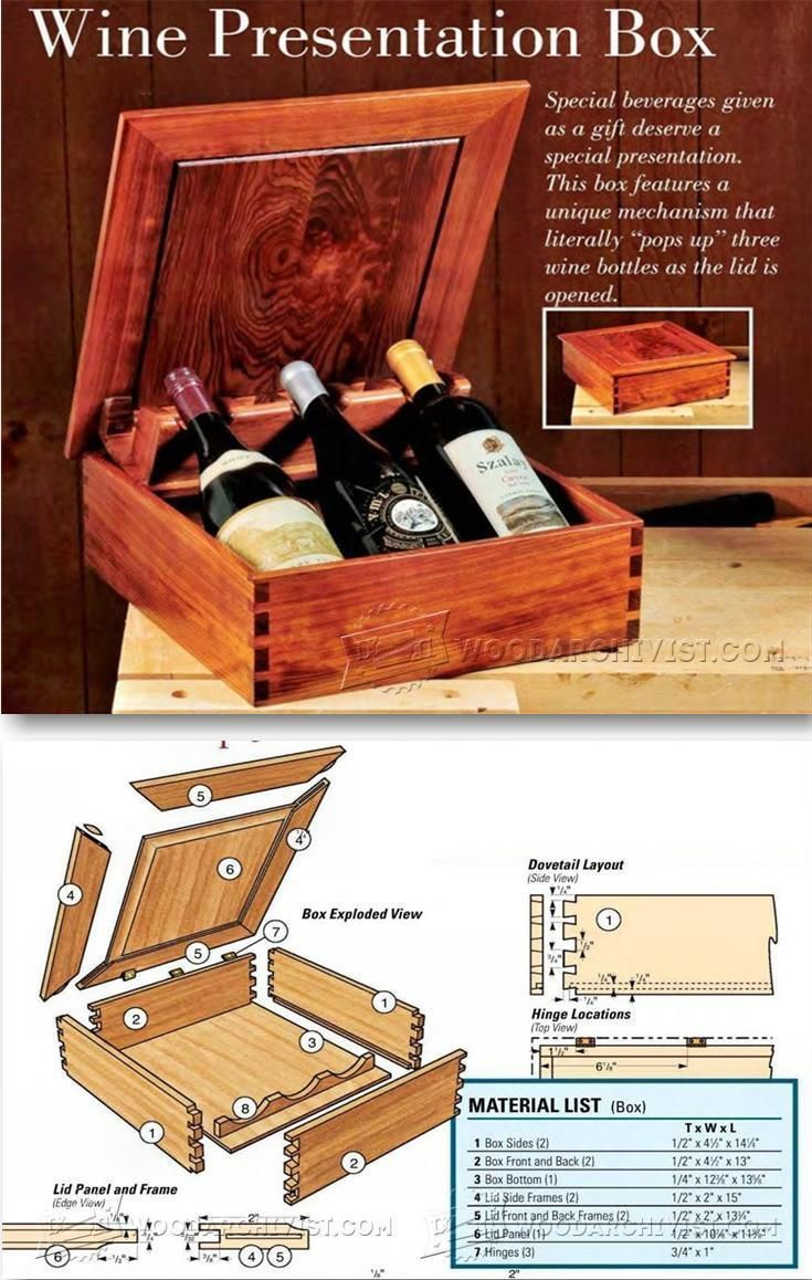 Wine Presentation Box Plans Woodworking Plans And Projects Woodarchivist Com Cool Woodworking Projects Woodworking Projects Diy Woodworking Furniture Plans