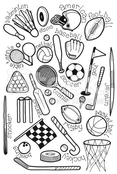 sport doodles royalty free stock photo - Sports Drawing Pictures