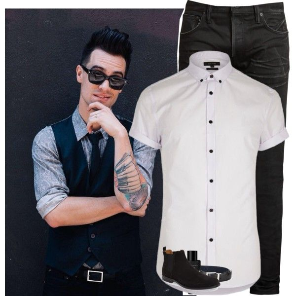 Birthday ootd/ date with my queen\\ Brendon by madxhatt3r on Polyvore featuring River Island, MasterCraft Union, ALDO, Prada, Kenneth Cole, men's fashion and menswear